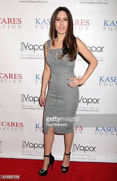 Radio host/model Kerri Kasem arriving at The Kasem Cares Foundation 1st Annual Benefit Gala on February 22, 2014 in Beverly Hills, California.