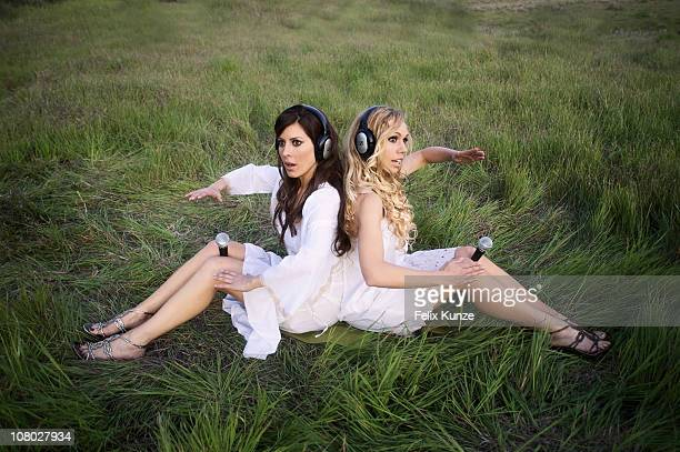 Radio hosts Kerri Kasem and Ashley Marriott pose for a portrait session on March 14 2010 in Malibu California