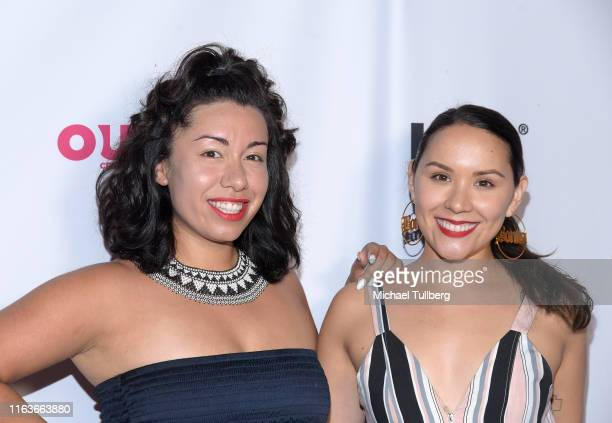 Radio hosts Mala Munoz and Diosa Femme attend a screening of The Garden Left Behind at the 2019 Outfest Los Angeles LGBTQ Film Festival at Margo...