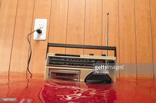 radio in flooded basement - flooded basement stock pictures, royalty-free photos & images