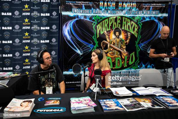 A radio interview during the Cannabis World Congress amp Business Expo in Los Angeles California on September 27 2018 The annual Cannabis World...