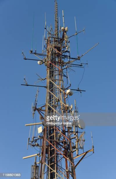 Radio mast, Naples, Italy, Antennenmast, Neapel, Italien.