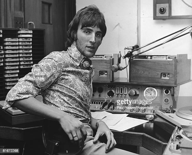 Radio One DJ Johnnie Walker at work in his studio September 1970