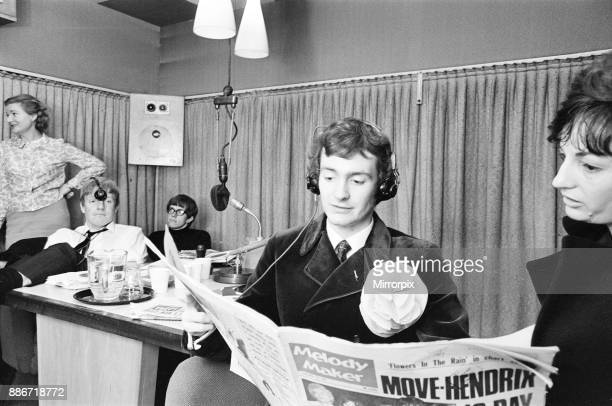 Radio One Rehearsals ahead of official launch, Studio Scenes, Broadcasting House, London, 28th September 1967. Radio One went on to launch at 7:00 am...