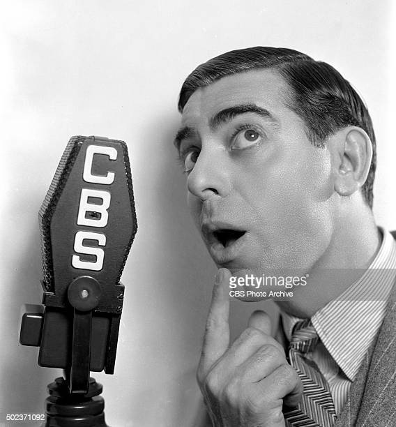 Radio performer Eddie Cantor the comedian singer and songwriter on The Eddie Cantor Show New York NY Image dated November 1 1934