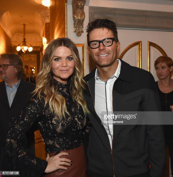 Radio personalities Amy Brown and Bobby Bones attend ACM Lifting Lives featuring Little Big Town hosted and underwritten by Johnathon Arndt and...