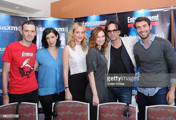 Radio personalities Dalton Ross and Jessica Shaw and actors James Wolk Billy Burke Nora Arnezeder and Kristen Connolly attend SiriusXM's...