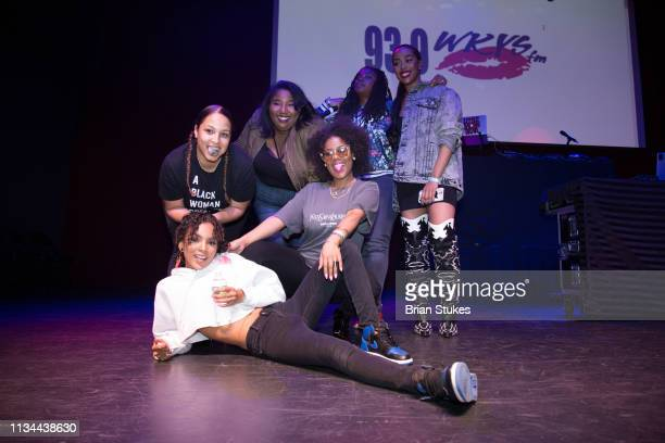 Radio personalities Deja Perez Leah A Henry Angie Ange Chey Parker Little Bacon Bear and Dominique Da Diva onstage during 2019 WKYS Women's Day...