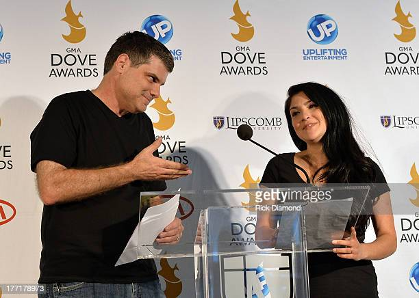 Radio Personalities Doug and Jaci Velasquez announces nominations for The 44th Annual GMA Dove Awards Nominations Press Conference at Allen Arena,...