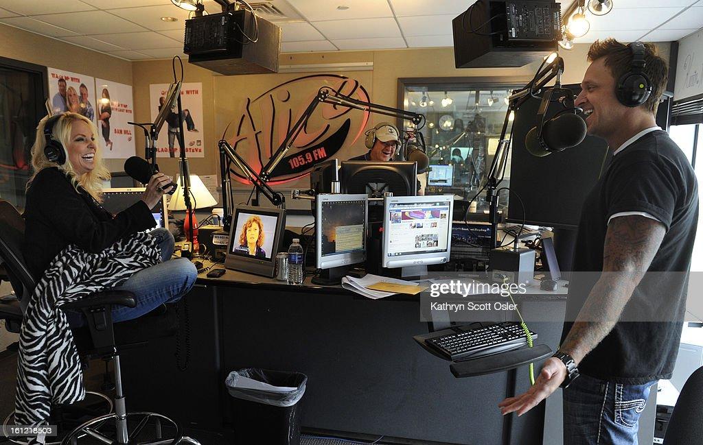 Radio Personalities Jamie White Left Bj Harris And Howie Drummond
