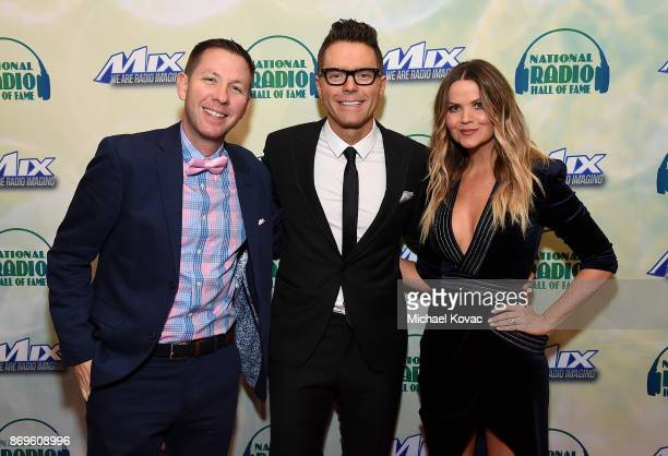 Radio personalities Lunchbox honoree Bobby Bones and Amy Brown attend the National Radio Hall of Fame Class Of 2017 Induction Ceremony Celebration at...