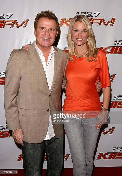 Radio personalities Mike Jerrick and Juliet Huddy arrive at 1027 KIIS FM's Homecoming Concert at the Honda Center on October 27 2007 in Anaheim...