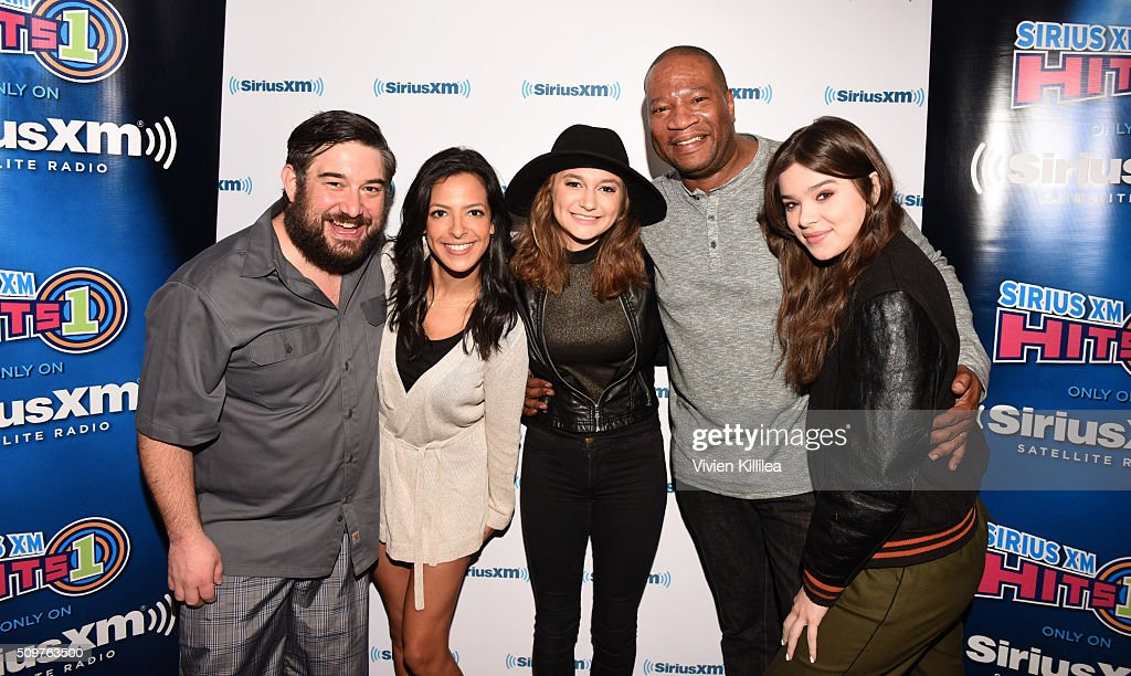 Radio personalities Ryan Sampson and Nicole Ryan, singer Daya, radio personality Stanley T and singer and actress Hailee Steinfeld attend SiriusXM Hits 1's The Morning Mash Up Broadcast From The SiriusXM Studios In Los Angeles on February 12, 2016 in Los Angeles, California.