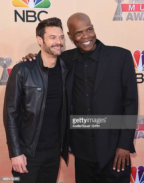 Radio personalities Ryan Seacrest and Big Boy arrive at the 2015 iHeartRadio Music Awards at The Shrine Auditorium on March 29 2015 in Los Angeles...