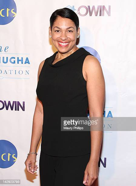 Radio personality Adai Lamar arrives at the 6th Annual Asomugha Foundation Gala at the Millennium Biltmore Hotel on April 14 2012 in Los Angeles...