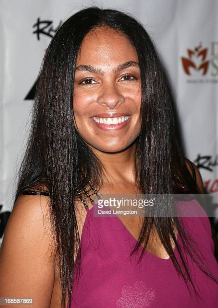 Radio personality Adai Lamar attends Stevie Wonder's 63rd birthday celebration at the House of Music Entertainment on May 11 2013 in Beverly Hills...