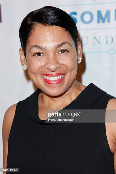 Radio personality Adai Lamar attends the 6th Annual Asomugha Foundation Gala 'Service Matters' at the Millennium Biltmore Hotel on April 14 2012 in...