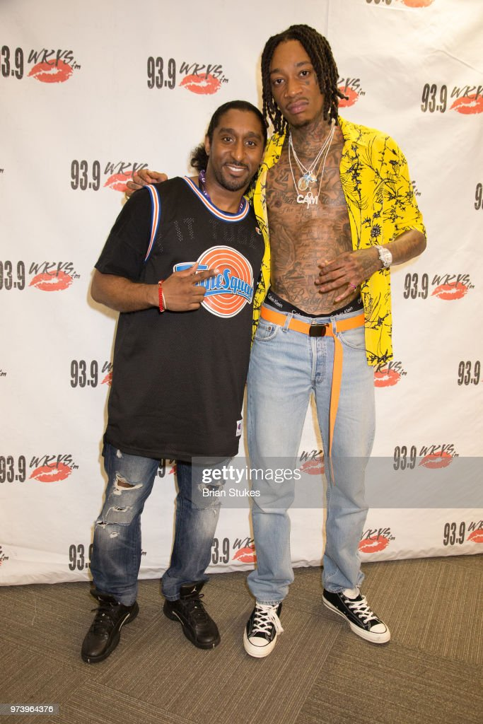 Wiz khalifa visits kys photos and images getty images radio personality aladdin da prince and wiz khalifa attend meet and greet at radio one on m4hsunfo