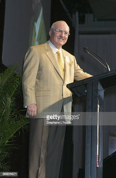 Radio personality Alan Jones attends the Hugh Jackman Cocktail Party at the Hilton Sydney on February 13 2006 in Sydney Australia