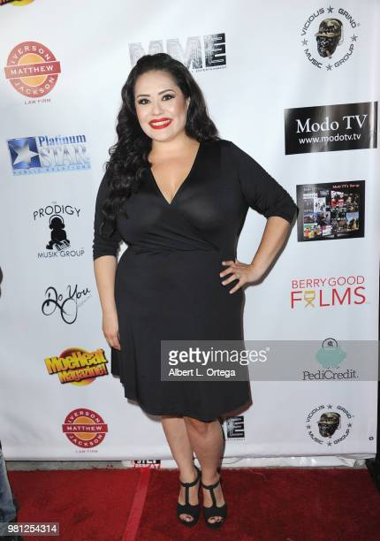 Radio personality Ana Vergara arrives for the Premiere Of 'Hey Mr Postman' held at Laemmle's Ahrya Fine Arts Theatre on June 21 2018 in Beverly Hills...
