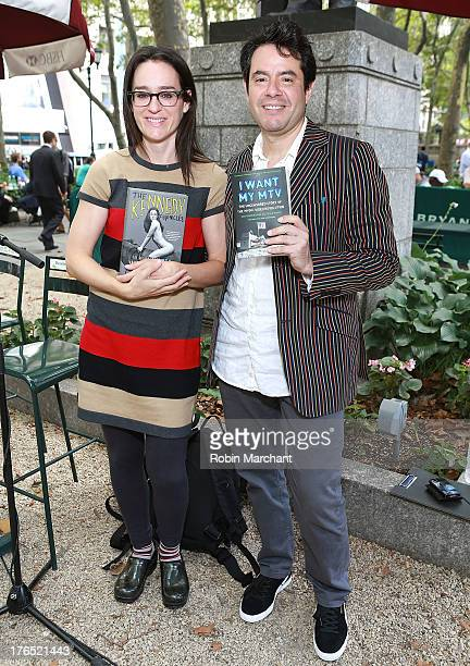 Radio personality and former MTV VJ Lisa Kennedy and Rob Tannenbaum attend Word for Word Author 2013 at The Bryant Park Reading Room on August 14...
