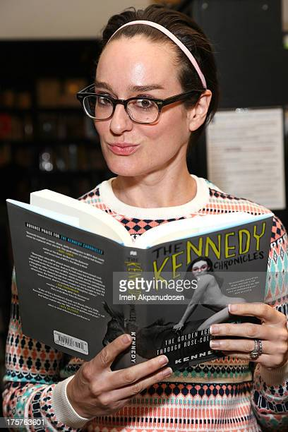 Radio personality and former MTV VJ Lisa Kennedy poses before signing copies of her new book 'The Kennedy Chronicles' at Book Soup on August 7 2013...
