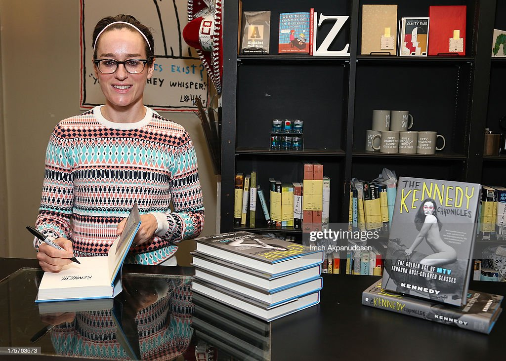 Former MTV VJ Kennedy attends a book signing for The