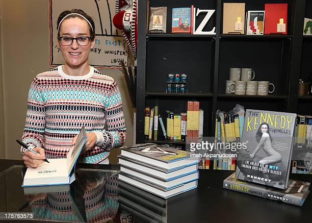 Radio personality and former MTV VJ Lisa Kennedy signs copies of her new book 'The Kennedy Chronicles' at Book Soup on August 7 2013 in West...