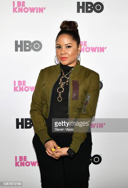 Radio personality Angela Yee attends HBO's 'I Be Knowin'' NYC Screening with Amanda Seales at The Roxy Hotel Cinema on January 23 2019 in New York...