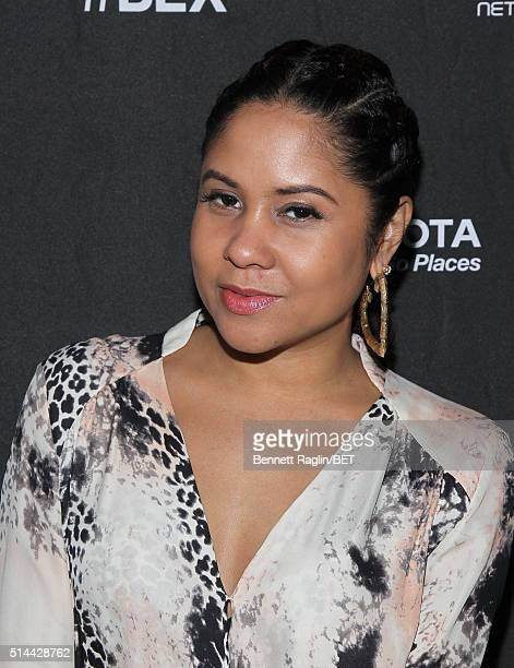 Radio personality Angela Yee attends the #BLX season 2 screening event at The Monarch Rooftop Lounge on March 8 2016 in New York City