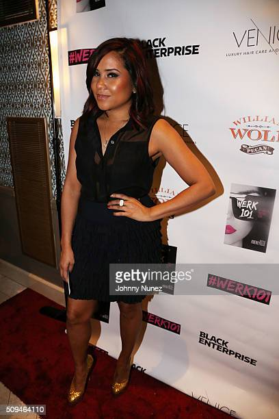 Radio personality Angela Yee attends Werk 101 Glam Night at Carol Hotel on February 10 in New York City