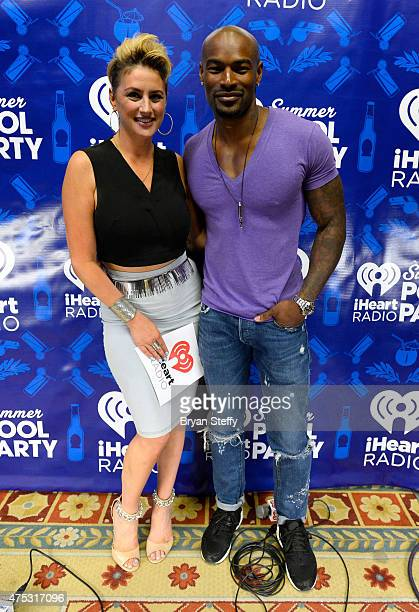 Radio personality Angi Taylor and model Tyson Beckford attend The iHeartRadio Summer Pool Party at Caesars Palace on May 30 2015 in Las Vegas Nevada