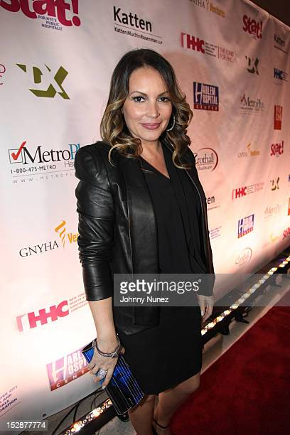 Radio personality Angie Martinez attends the opening of The Mural Pavilion at Harlem Hospital Center on September 27 2012 in New York City