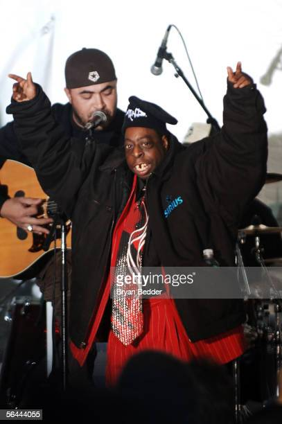 Radio personality Beetlejuice appears onstage during his last WXRK Howard Stern Show December 16 2005 in New York City