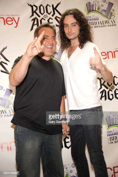 Radio personality Bob Bronson and singer and cast member of the Broadway show Rock Of Ages Constantine Marsoulis attends the 2010 Broadway in Bryant...