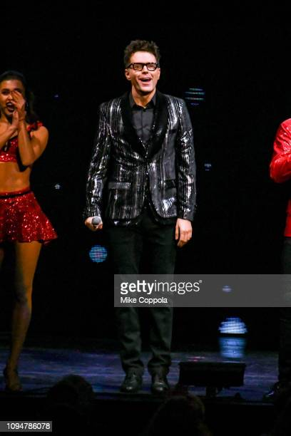 Radio personality Bobby Bones performs during Dancing with the Stars Live A Night To Remember New York New York at Radio City Music Hall on January...