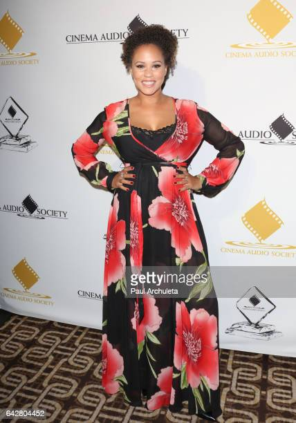 Radio Personality Breegan Jane attends the 53rd Annual Cinema Audio Society Awards at Omni Los Angeles Hotel at California Plaza on February 18 2017...