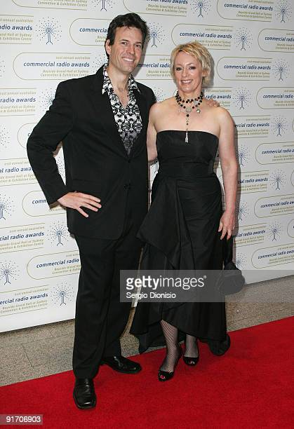 Radio personality Brendan Jones and Amanda Keller attend the Australian Commercial Radio Awards 2009 at the Sydney Convention Exhibition Centre on...
