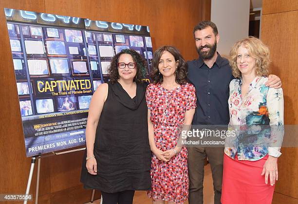 Radio personality Brooke Gladstone SVP of HBO Documentary Films Lisa Heller and filmmakers Jeremiah Zagar and Lori Cheatle attend a special screening...