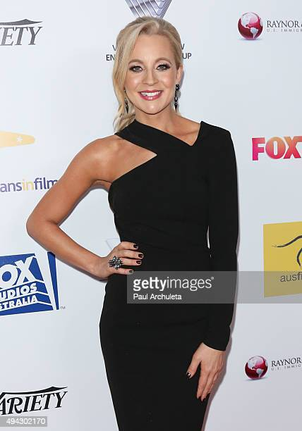 Radio Personality Carrie Bickmore attends the 4th Annual Australians In Film Awards Benefit Dinner and Gala at The InterContinental Hotel on October...
