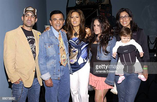 Radio personality Casey Kasem and his family arrive at the Golden Dads Awards ceremony at the Peterson Automotive Museum on June 15, 2005 in Los...