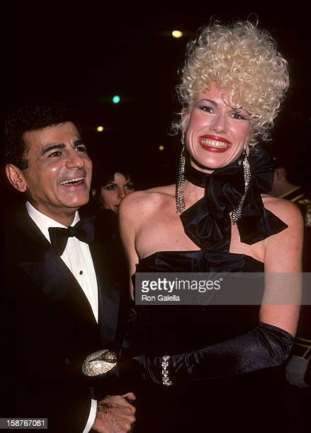 Radio Personality Casey Kasem and wife Jean Kasem attend Fourth Annual American Video Awards on November 20 1985 at the Wiltern Theater in Los...