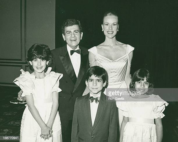 "Radio Personality Casey Kasem, wife Jean Kasem and children attend Lebanon-Syrian American Society of Greater Los Angeles ""Man of the Year"" Awards on..."
