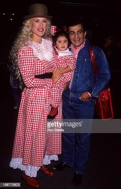 Radio Personality Casey Kasem, wife Jean Kasem and daughter Liberty Kasem attend Cirque Du Soleil Benefit Performance on October 9, 1992 at the Santa...