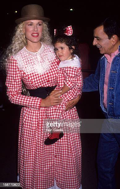Radio Personality Casey Kasem wife Jean Kasem and daughter Liberty Kasem attend Cirque Du Soleil Benefit Performance on October 9 1992 at the Santa...