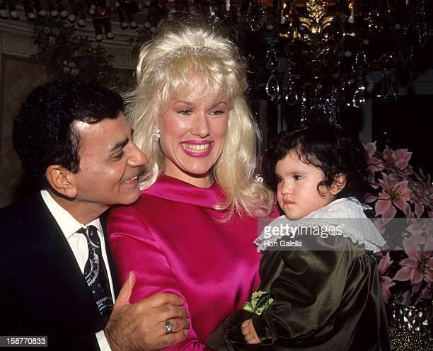 Radio Personality Casey Kasem wife Jean Kasem and daughter Liberty Kasem attend Casey Kasem's Christmas Parade on December 21 1991 at Casey Kasem's...