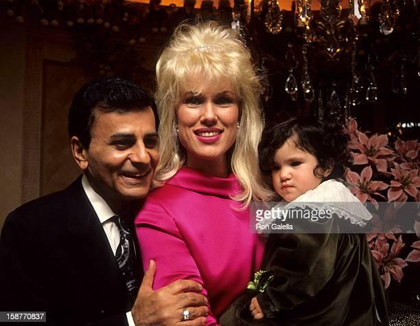 Radio Personality Casey Kasem, wife Jean Kasem and daughter Liberty Kasem attend Casey Kasem's Christmas Parade on December 21, 1991 at Casey Kasem's...