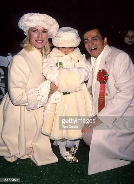 Radio Personality Casey Kasem wife Jean Kasem and daughter Liberty Kasem attend 63rd Annual Hollywood Christmas Parade on November 27 1994 at KTLA...