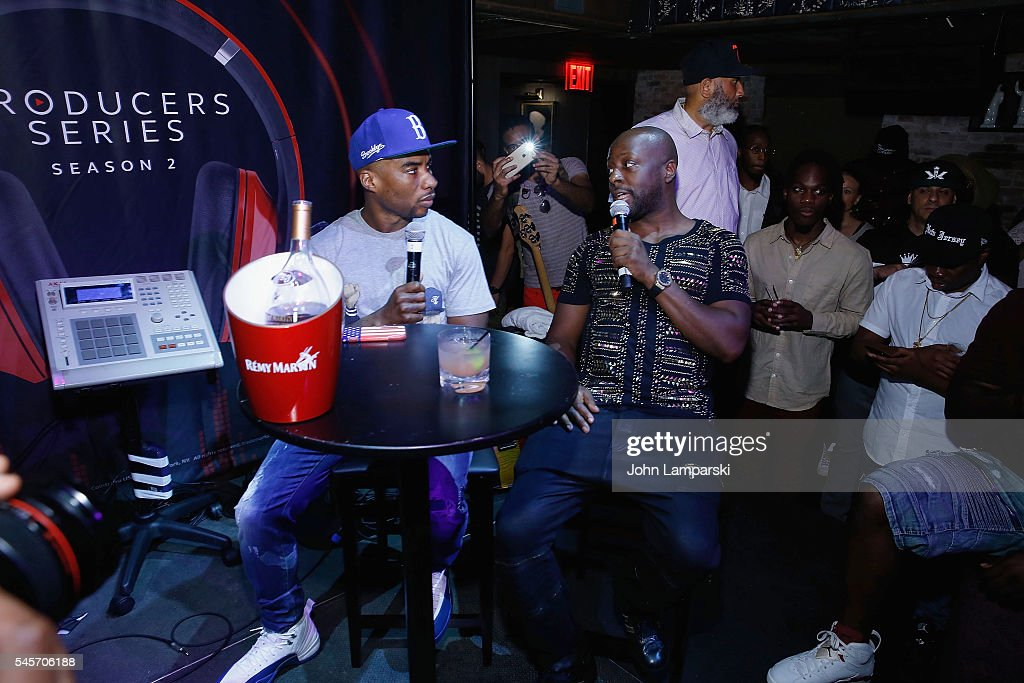 Radio personality, Charlamagne Tha God and musician Wyclef Jean attend Remy Martin presents 'The Producers Series: Season 2' Qualifier No. 2 at TAO Downtown on July 9, 2016 in New York City.