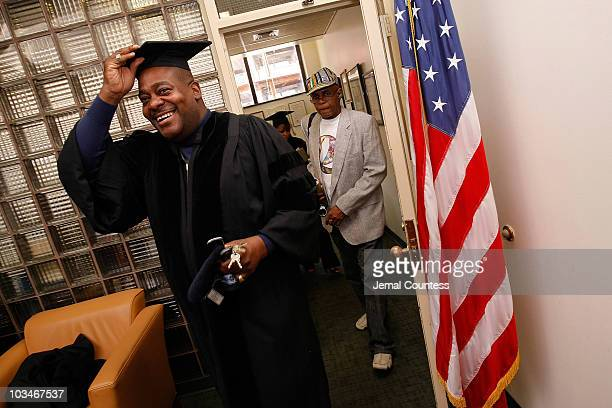 Radio personality Chuck Chillout attends the 3rd Pi Eta Kappa Honor Society Induction Ceremony at Medgar Evers College on April 25 2008 in Brooklyn NY